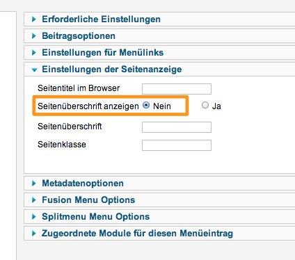 FENOMICS© GmbH - Administration - Menüs_ Menüeintrag bearbeiten
