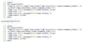 Joomla Beitragstitel als H1 Überschrift darstellen | Template Override | FENOMICS
