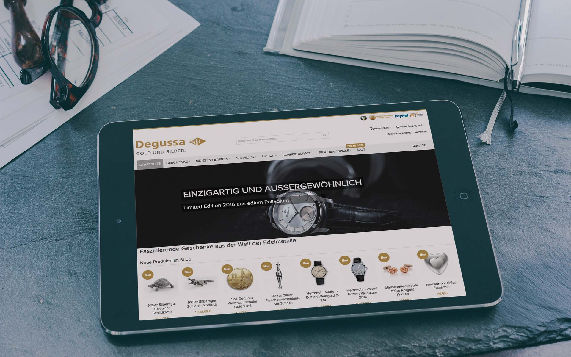 Magento Referenz | Degussa Goldhandel GmbH Goldgeschenke Shop