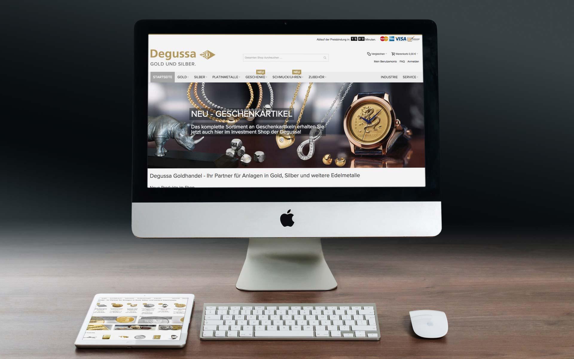 Magento Referenz | Degussa Goldhandel GmbH