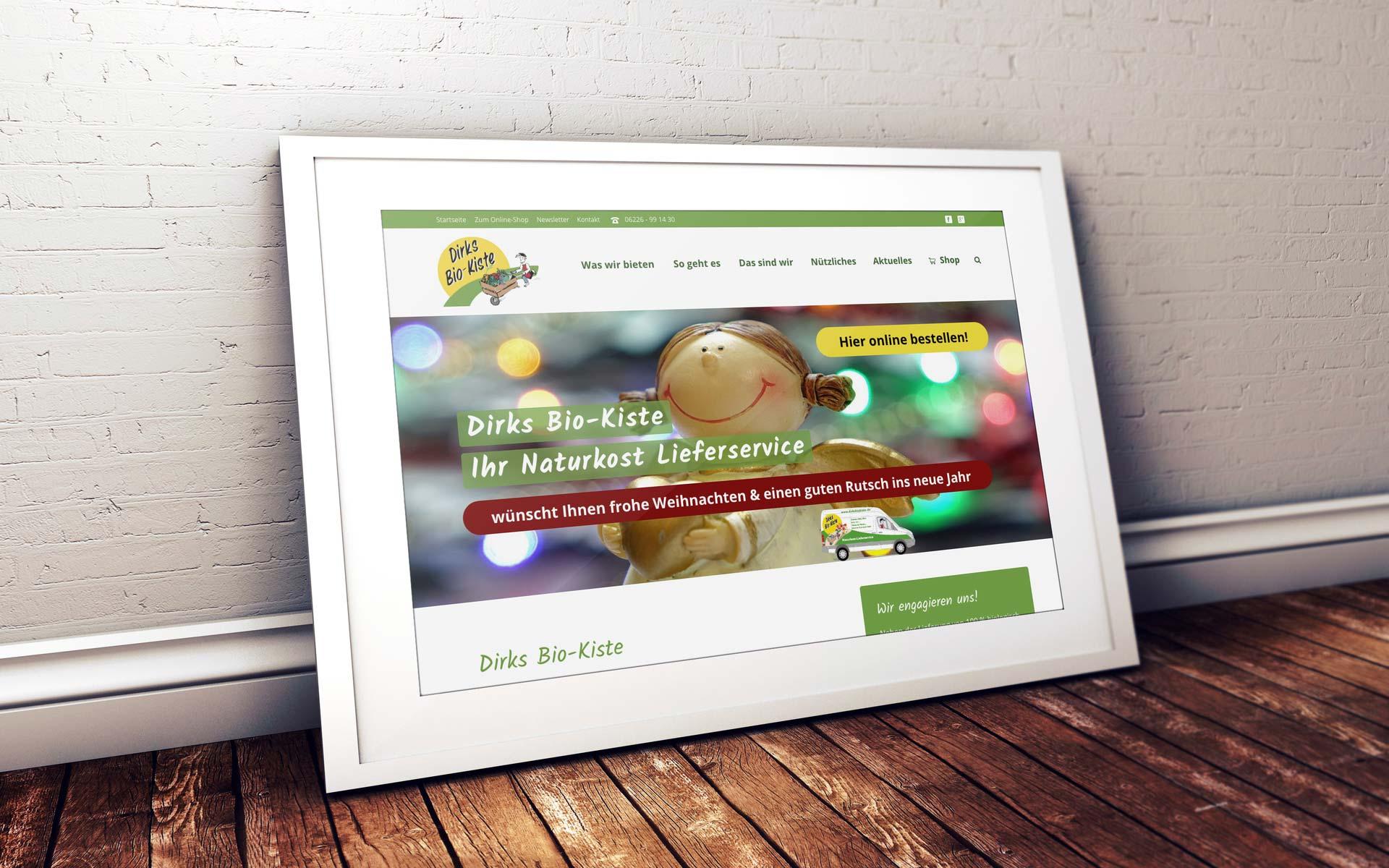 Dirks Bio-Kiste – Referenz Webdesign