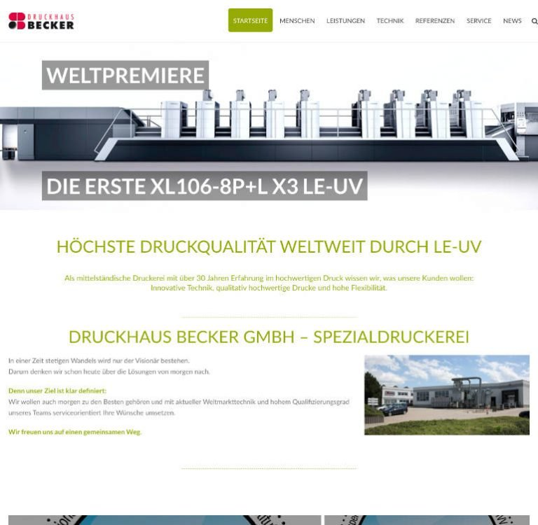 Druckhaus-Becker-Spezialdruckerei