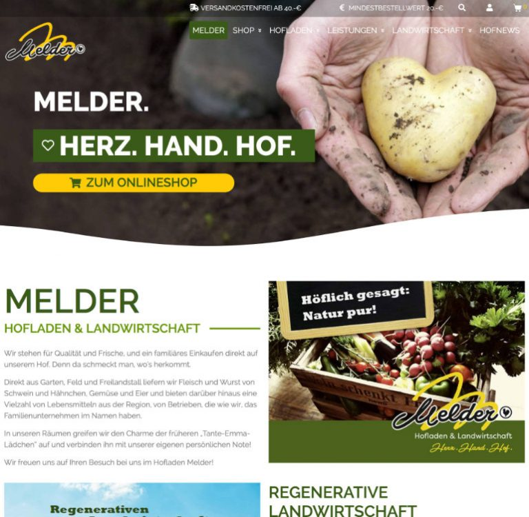 Hofladen Melder Obst Gemüse und tierisc www.hofladen melder.de