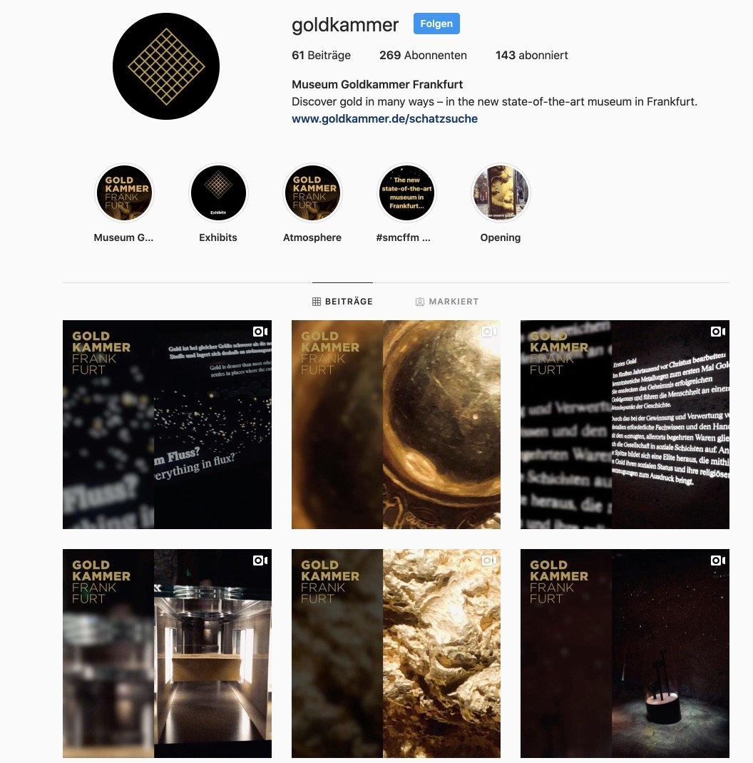 Museum Goldkammer Frankfurt - Instagram